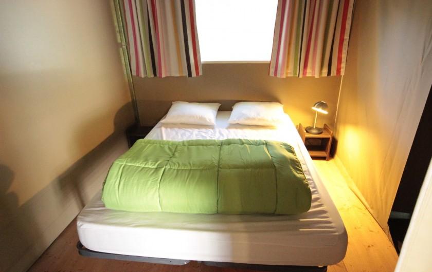 Location de vacances - Bungalow - Mobilhome à La Garette - Bungalow toilé 40m2 4 personnes (chambre 1 lit double)