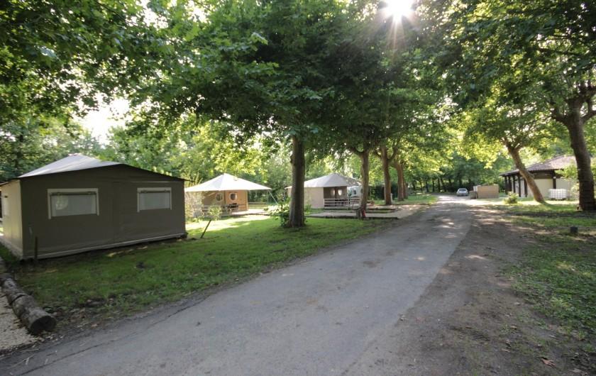 Location de vacances - Bungalow - Mobilhome à La Garette - Bungalow toilé 40m2 4 personnes