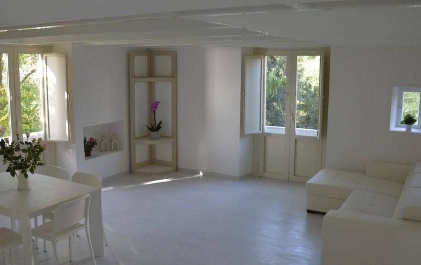 Location de vacances - Appartement à Naples - Salon avec canapé-lit double