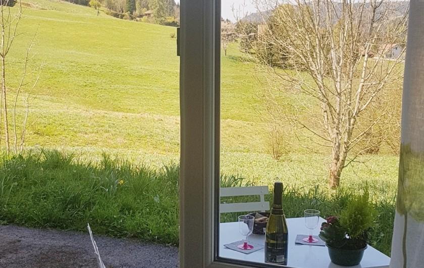 Location de vacances - Appartement à Xonrupt-Longemer - Terrasse accessible depuis la cuisine