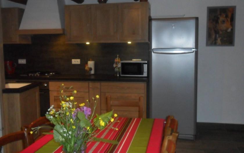 Location de vacances - Gîte à Saint-Pierre-de-Nogaret - Cuisine  de grande qualité ouverte sur le séjour pour plus de convivialité
