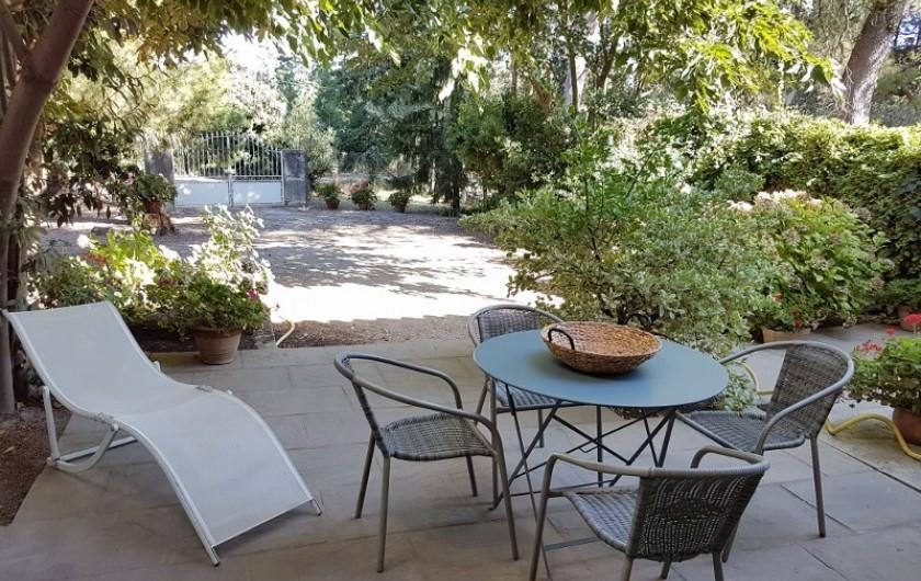 Location de vacances - Appartement à Saint-Gilles - terrasse coté nord indépendante