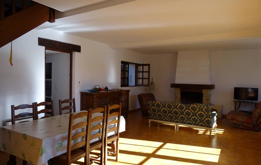 Location de vacances - Gîte à Louslitges - Salon-salle à manger