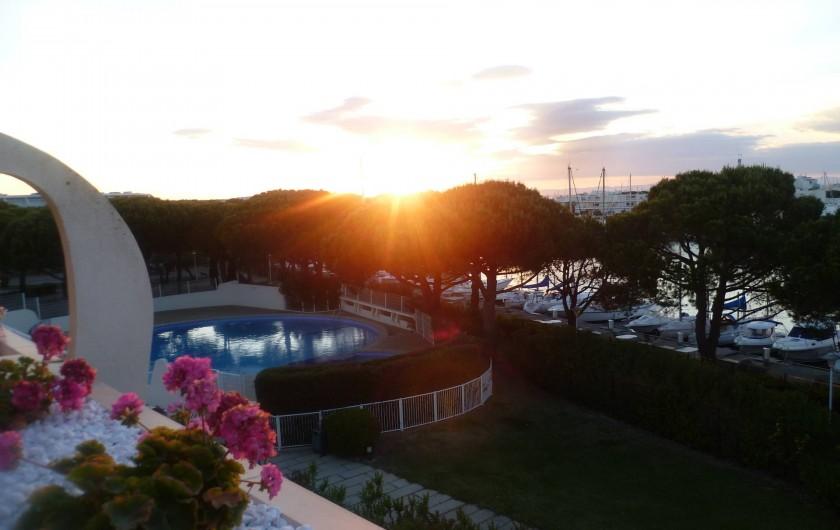 Location de vacances - Appartement à Le Grau-du-Roi - vue terrasse