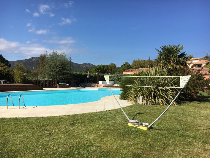 Location de vacances - Appartement à Sainte-Lucie de Porto-Vecchio - badmintom