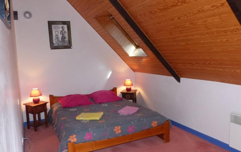Location de vacances - Maison - Villa à Kermeurzac'h - La chambre avec lit en 140