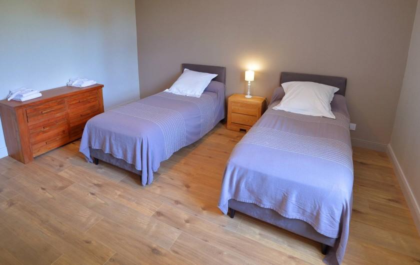 Location de vacances - Gîte à Chambord - Gîte de la Gabillière - chambre avec lits jumeaux