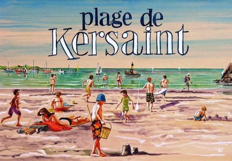 Location de vacances - Maison - Villa à Kersaint - une peinture - gouache de François GOALEC