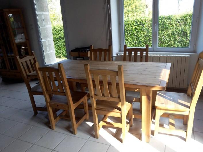 Location de vacances - Maison - Villa à Kersaint - La table de la salle à manger