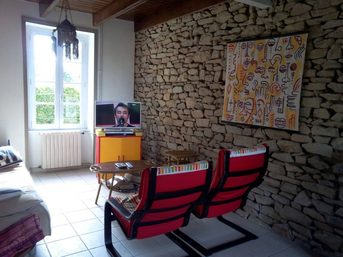 Location de vacances - Maison - Villa à Kersaint - le coin télévision