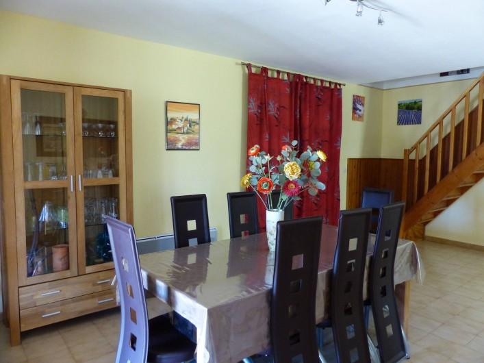 Location de vacances - Villa à Uzès - salle à manger trés bien équipée
