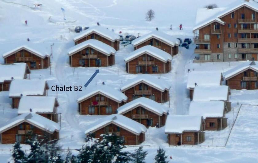 Location de vacances - Chalet à Le Dévoluy - Localisation B2, vue dégagée !