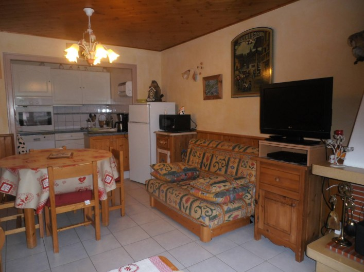 Location de vacances - Appartement à La Clusaz - salle à manger