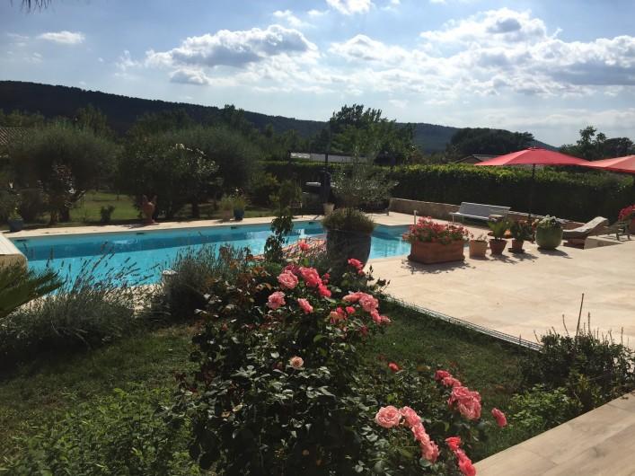 Location de vacances - Villa à Villecroze - VUE DE LA PISCINE