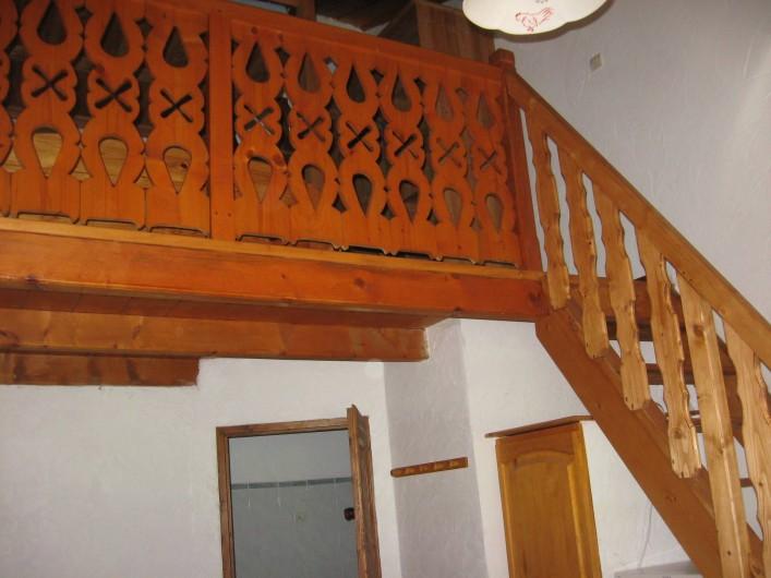 Location de vacances - Chalet à Hauteluce - Accès mezzanine
