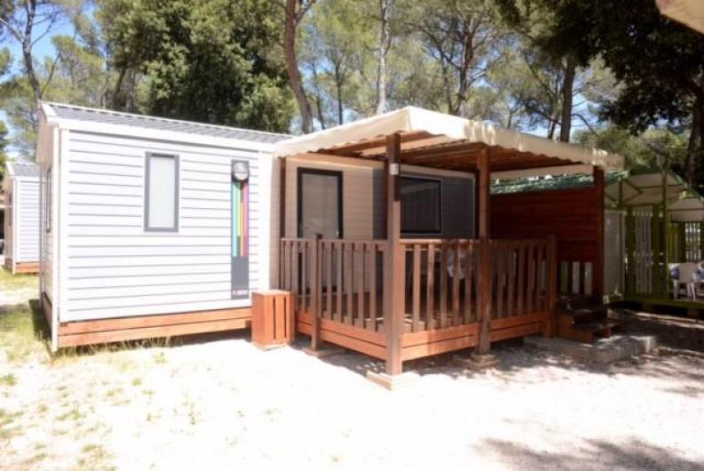 """Location de vacances - Bungalow - Mobilhome à Le Camp - Joli mobil home """"Azur"""" pour 6 personnes maximum"""