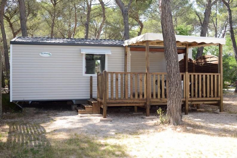 """Location de vacances - Bungalow - Mobilhome à Le Camp - Mobil home """"O/Phéa/O'Hara""""et sa grande terrasse"""