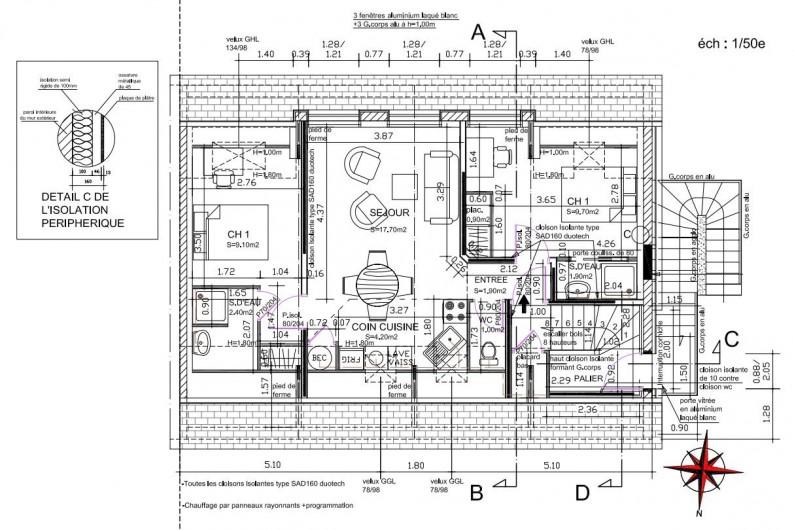 Location de vacances - Appartement à Vannes - Plan de l'appartement