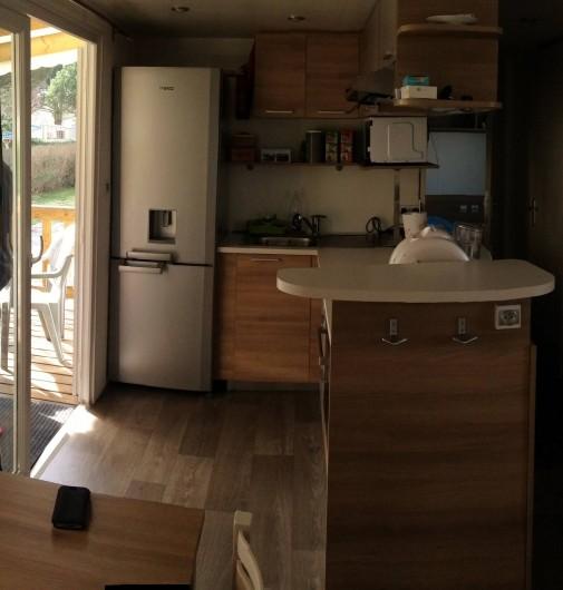 Location de vacances - Bungalow - Mobilhome à Gastes - cuisine americaine