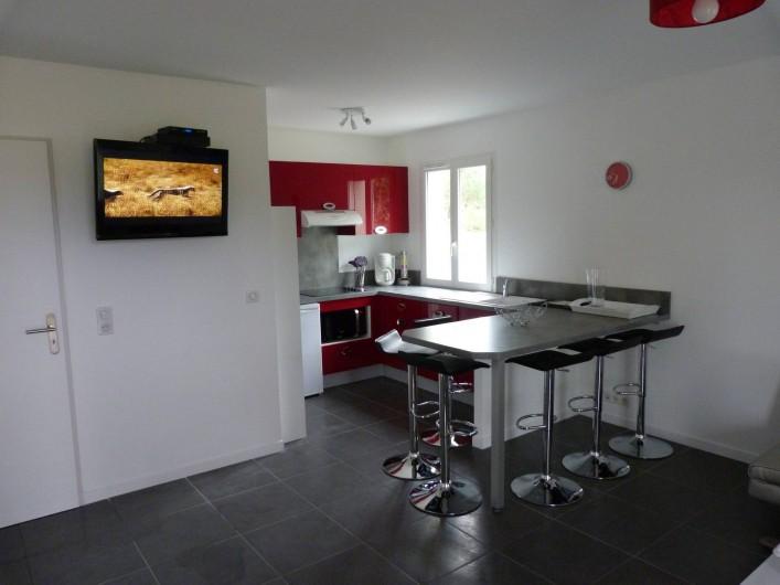 Location de vacances - Appartement à Saint-Julien-en-Born - cuisine ouverte