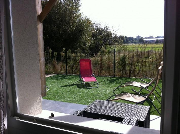 Location de vacances - Appartement à Saint-Julien-en-Born - vue depuis chambre parentale