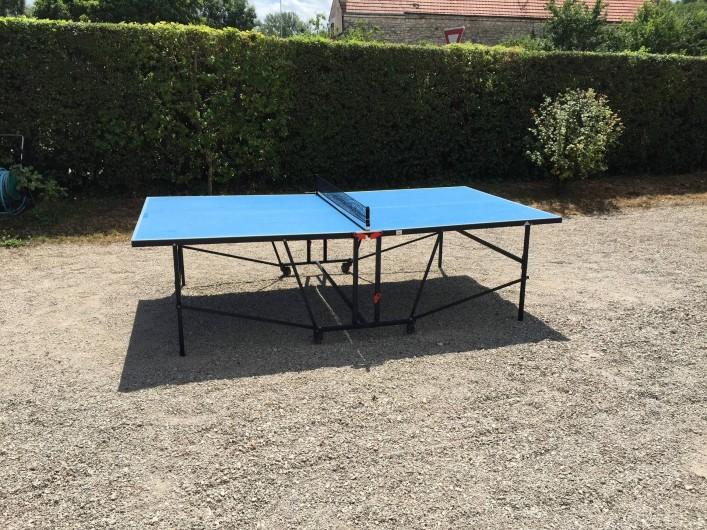 Location de vacances - Hôtel - Auberge à Escolives-Sainte-Camille - table ping-pong