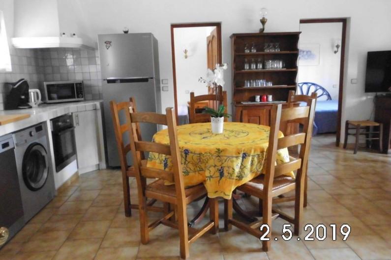 Location de vacances - Villa à Sainte-Maxime - Cuisine avec la table à manger