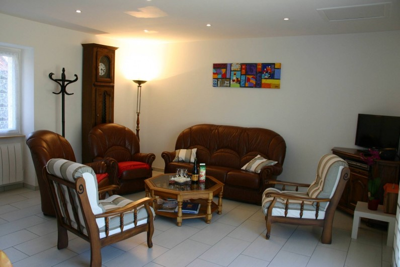 Location de vacances - Gîte à Lanildut - Salon avec coin télé