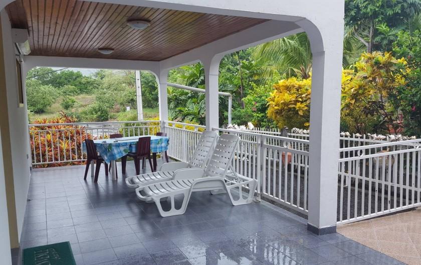 Location de vacances - Villa à Les Anses-d'Arlet - Très Grande Terrasse