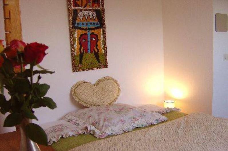 Location de vacances - Maison - Villa à Pléneuf-Val-André - chambre verte, la plus intimiste.