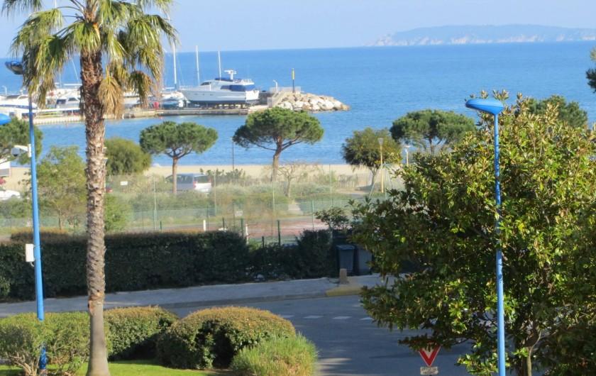 Location de vacances - Studio à La Favière - vue depuis la terrasse