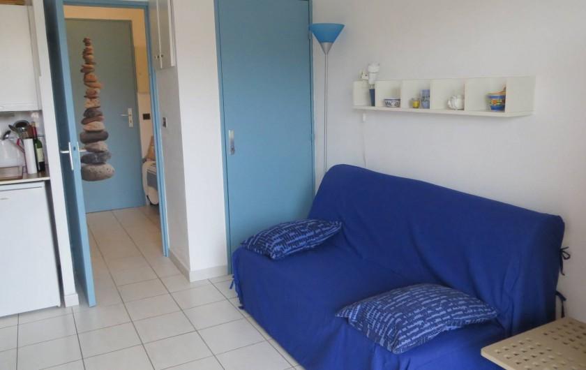 Location de vacances - Studio à La Favière - canapé lit 2 personnes