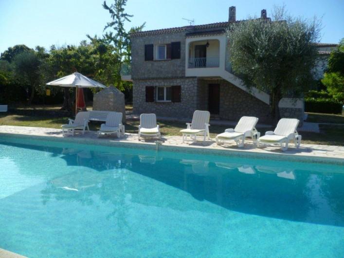 Location de vacances - Villa à Grasse - La piscine un jour d'été
