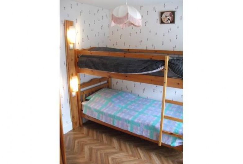 Location de vacances - Appartement à Saulxures-sur-Moselotte - lit superposé avec possibilité de mettre un lit d'appoint