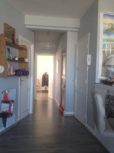 Location de vacances - Appartement à Le Touquet-Paris-Plage - Au fonds chambre parent,1ere à date wc,1 ere à gauche sdb porte en bois = entrée