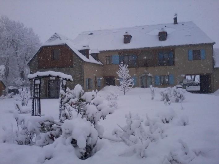 Location de vacances - Chambre d'hôtes à Guchen - La maison en hiver