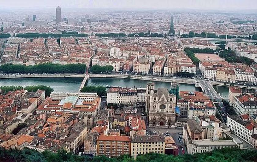 Location de vacances - Appartement à Lyon - Vue depuis la Basilique de Fourvière