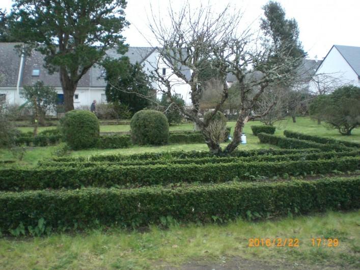 Location de vacances - Villa à Carnac - Jardin à l'ancienne avec petits buis