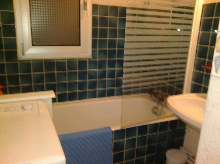 Location de vacances - Appartement à Perros-Guirec - baignoire qui fait douche +lave linge  sèche cheveux