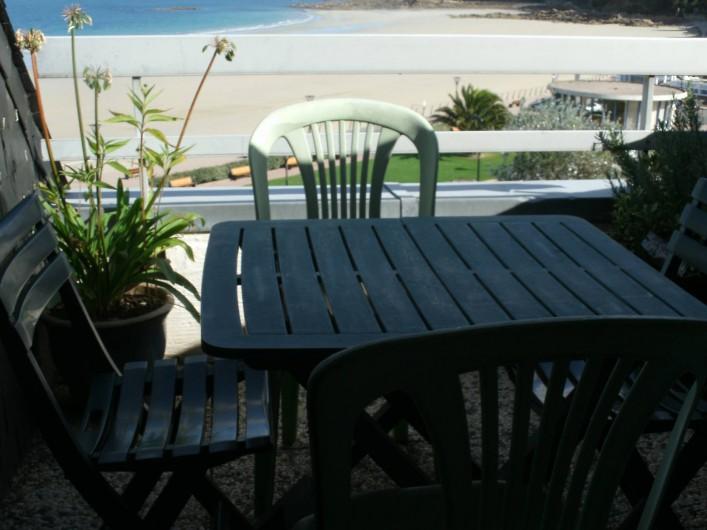 Location de vacances - Appartement à Perros-Guirec - Appartement t2  vue panoramique mer terrasse