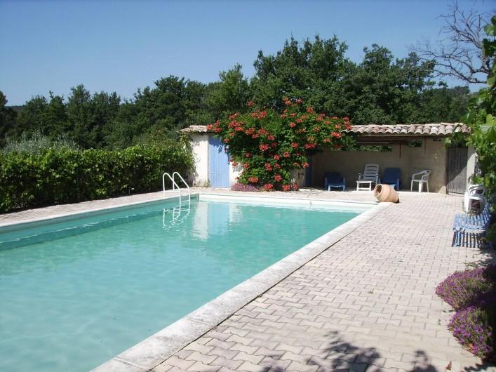 Location de vacances - Gîte à Vinsobres - La piscine - 6 m x 12 m Profondeur min 0,80m - max 2,10m