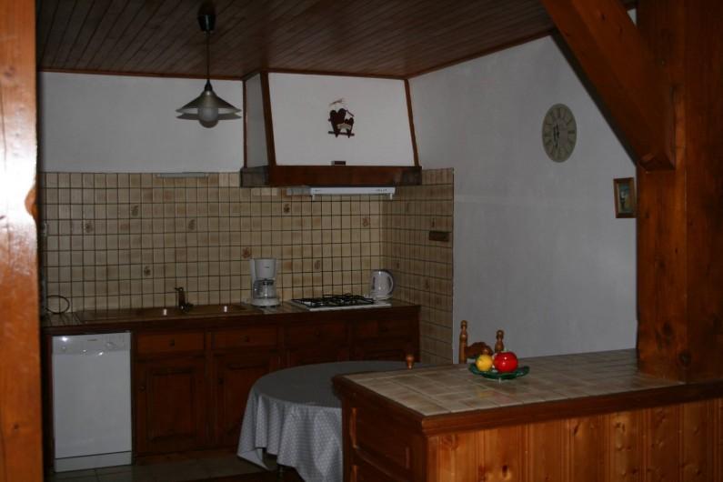 Location de vacances - Appartement à Samoëns - CUISINE OUVERTE