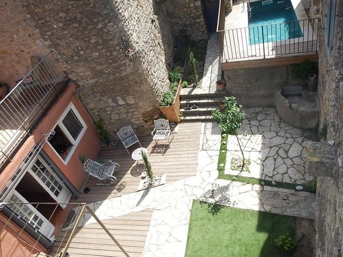 Location de vacances - Gîte à Lagrasse - Cour