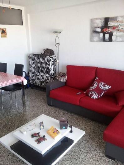 Location de vacances - Appartement à Santa Pola - salon avec éventuellement  lit d appoind