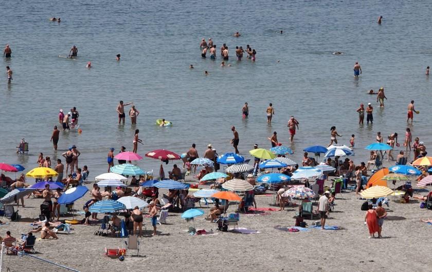 Location de vacances - Appartement à Santa Pola - plage vue de la terrasse
