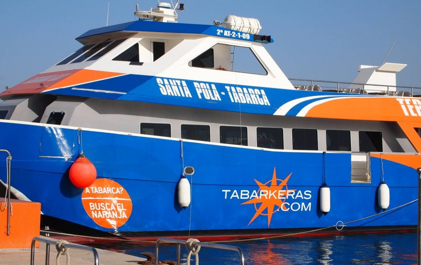 Location de vacances - Appartement à Santa Pola - bateau mouche pour liaison avec ile de Tabarca Trés  simpa