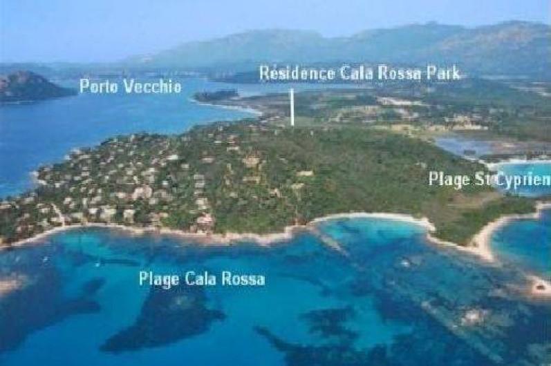 Location de vacances - Appartement à Porto-Vecchio - Situation géographique.