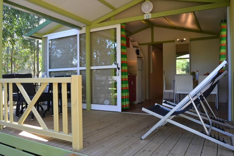 Location de vacances - Bungalow - Mobilhome à Calvi - extérieur chalet Moréa