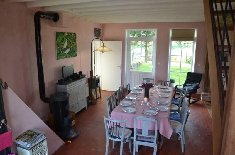 Location de vacances - Gîte à Marle - Gîtes des Platanes pour une salle à manger de 12 couverts