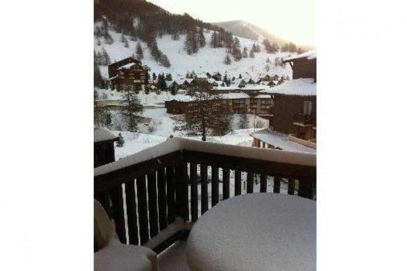 Location de vacances - Studio à La Foux d'Allos - Vue du balcon sur la vallée